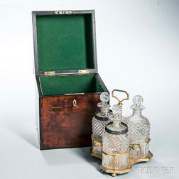 English Cased Decanter Set